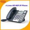 "R2LW Excellent HD WIFI IP Phone 4 Lines 3.2"" Digit LCD Display With Backlit"