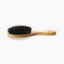 bamboo oval hair brush with 100% boar bristle