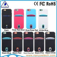 Mobile phone case with credit card cash holder wallet case for Iphone 6 6s 5 5s