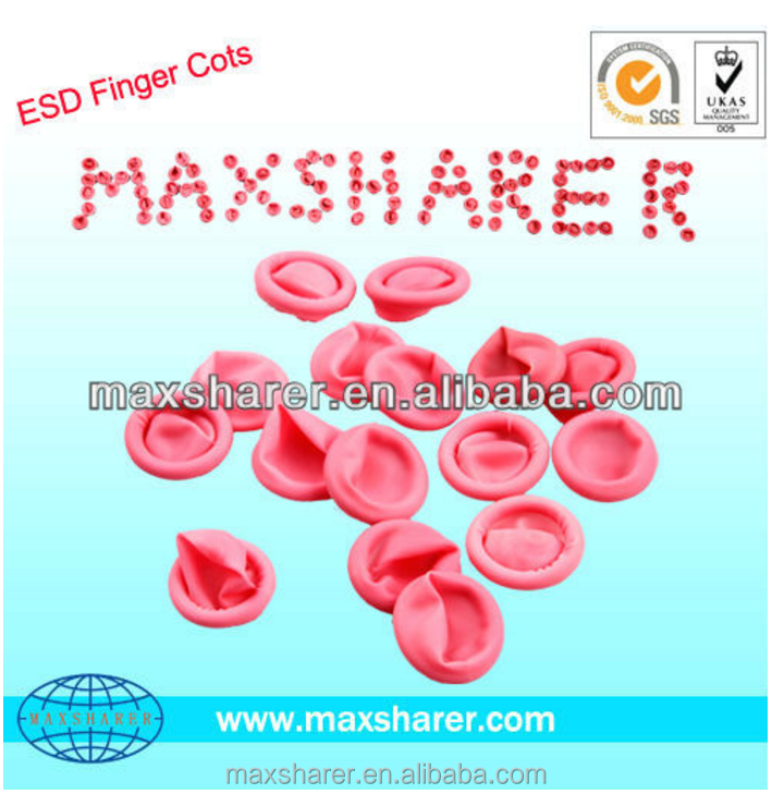 disposable medical FingertipsESD conductive Finger Cots