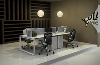 modern metal office desk and partition (DIA-series)