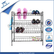 China Supplier Home Furniture 4 Tier Metal Folding Project Shoe Racks