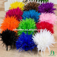 China Supplier Wholesale Dyed Rooster Saddle Feathers Fashion DIY Coque Feathers