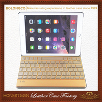 wholesale Intelligent induction switch ultra-thin aluminum bluetooth keyboard for ipad air leather cases