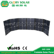 Energy Saving Outdoor Use Solar Panel Folding Made by High Efficiency Solar Cell Fabric