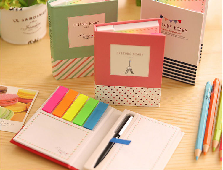 Memo Pads Style and Loose Leaf,self-adhesive,100% Eco-friendly Feature sticky note