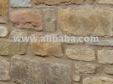 Old Reclaimed York Stone Rubble Walling