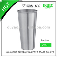 barware glass coffee cup with metal holder