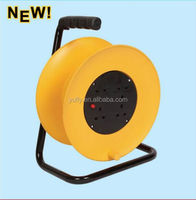 50m small british type extension cord reel electric socket hand hold 4Outlets extension cable reel