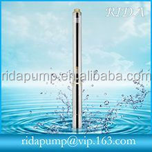 Pencil submersible pump for deep well