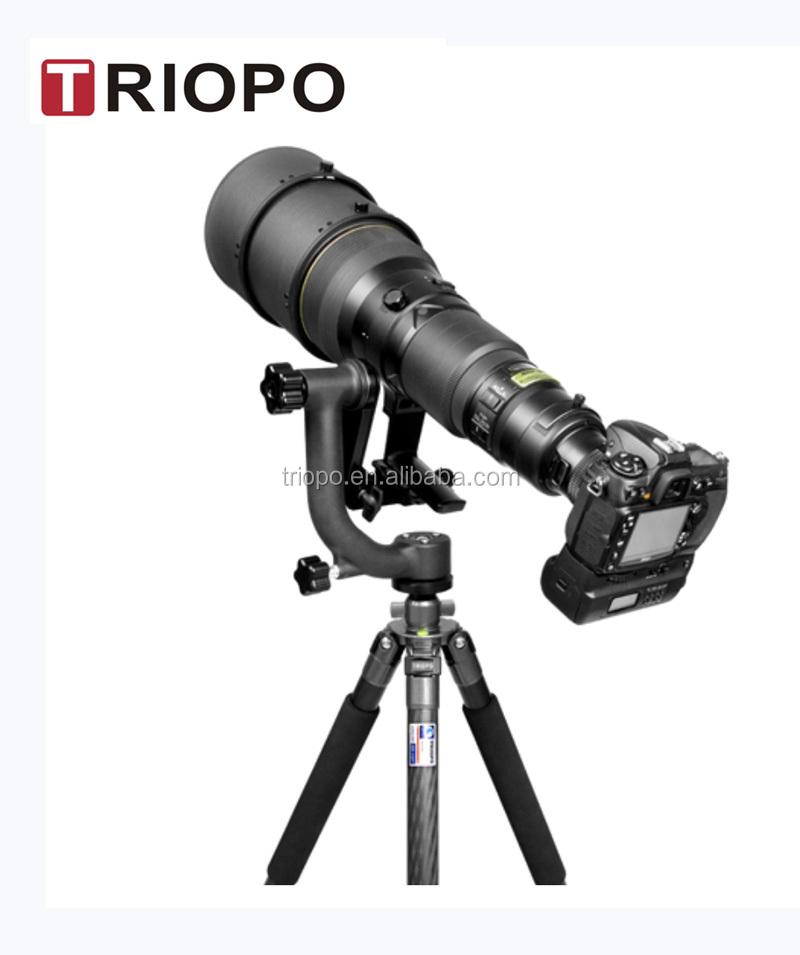 "TRIOPO DG-3 camera gimbal head tilt head bird watching head with 1/4"" screw"
