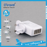 2.1A 4 USB Port AC Adapter UK Plug Home Wall Charger For iPhone 6
