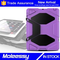 Hot selling drop protected tablet case for iPad 2 child safety case for iPad rugged shockroof cover
