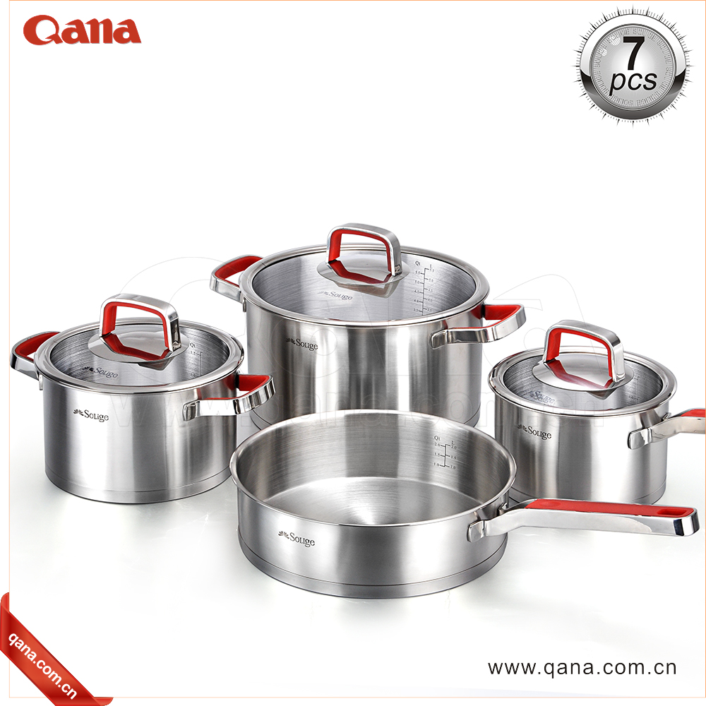 HOT SELLING 6/7 Pieces Stainless Steel Korkmaz Flora Cookware in Cookware Sets