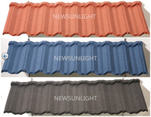 Decorative Sun Stone Coated Metal Monier Villa Houses Roof Tile