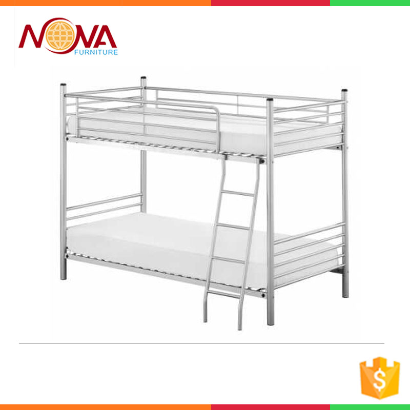 high weight capacity double adult steel bed used for military school refugee cheap bunk beds for sale