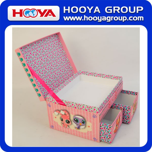 Custom made lovely kids jewelry box, kids box, storage box in fancy paper