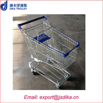 High-quality Metal trolley asian supermarket shopping cart cost for sale