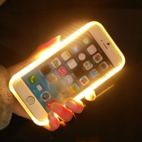 LED Phone Case For Iphone 5/5S/SE/6/6S/6 Plus, Selfie Light Phone Case For Samsung Galaxy S6/S7 led light phone case