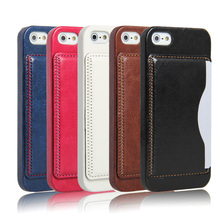 Alibaba Back Cover for iphone 5 Case Leather China Manufacturer Cell Phone Case for Apple iPhone 5/5S with Credit Holder
