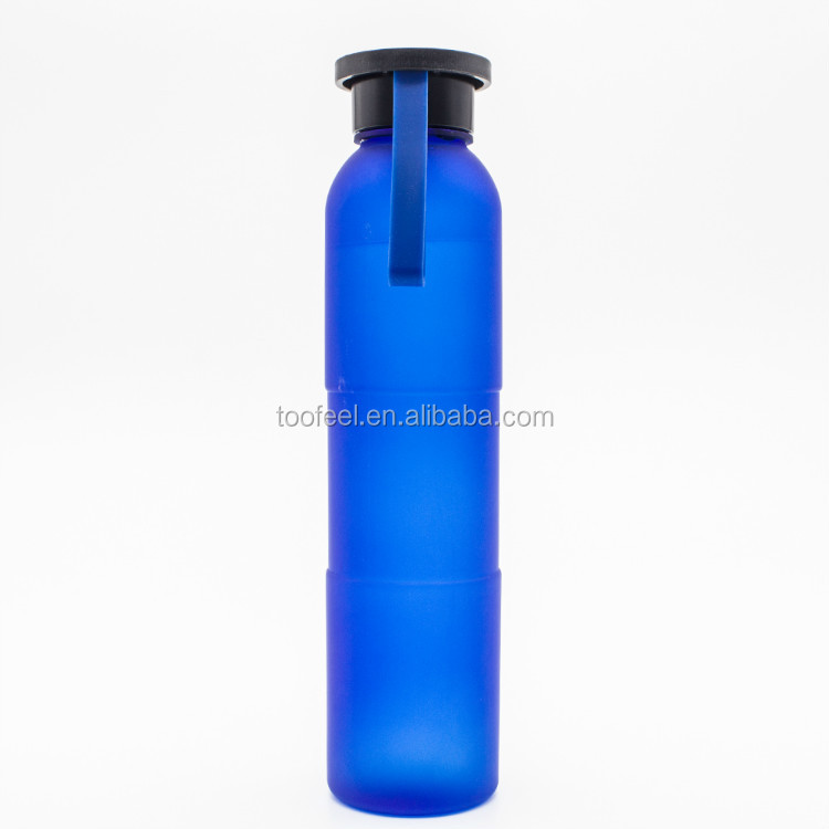 custom logo cute bpa free tritan sport plastic drinking water bottle with silicone handle