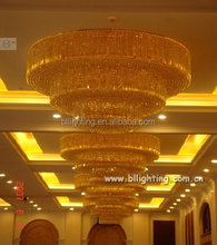 Hall ballroom big round crystal chandelier led decoration light