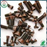 china screw factory Flat head tool holder torx screws with copper plated delivery fast small MOQ