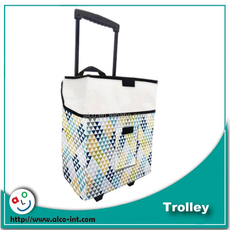 2016 new design foldable shopping trolley bag