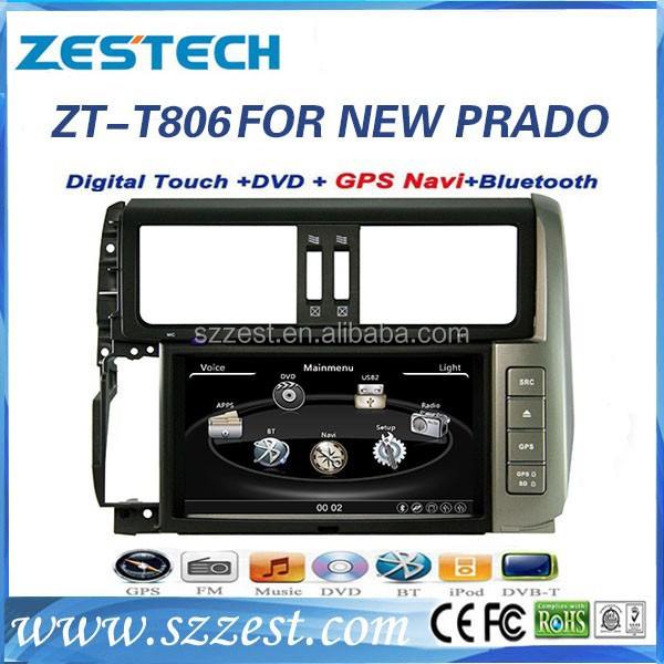 car multimedia for Toyota Prado car multimedia 2014 with gps radio video TV 3G ZT-T806