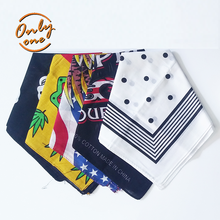 Multi functional elegance 100% cotton and polyester square bandana