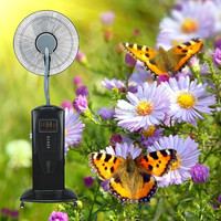 gift packing 16/18 inch pedestal fan water driven gas free misty fan Celsius air cooler