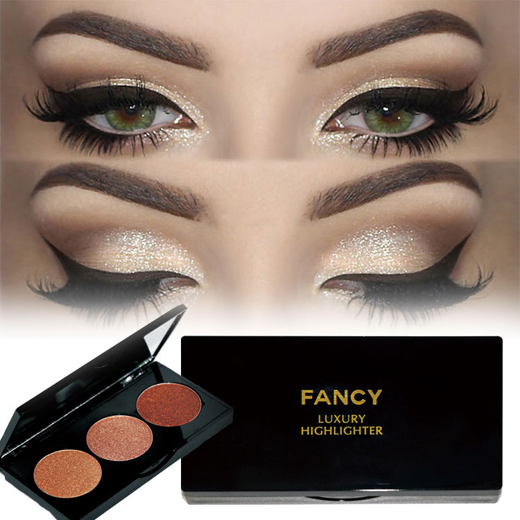 Highlighter Makeup With Best Formula Custom Label Magnetic Cardboard Makeup Palette Highlighter,Shimmers And Shadows