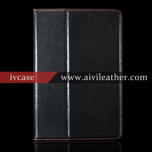 Deluxe Head Layer Cow Leather Folio Flip Covers For Book Ipad Mini 2 Leather With Stand Smart Cover