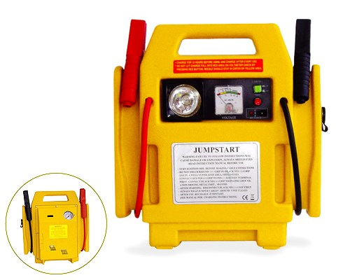 12V jump start portable car jump starter with air compressor power station
