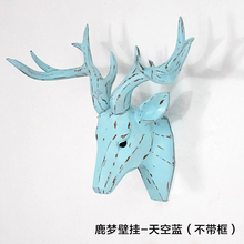 2016 new items christmas vivid happiness animal antlers deer head wall hanging for home decoration
