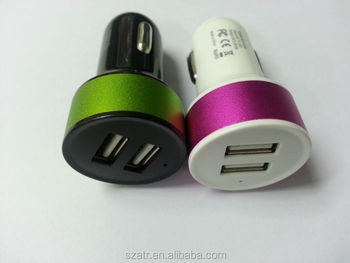 car USB charger double USB 3.1A