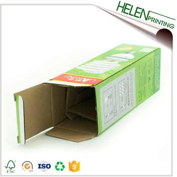 Custom corrugated cardboard box dividers for LED light