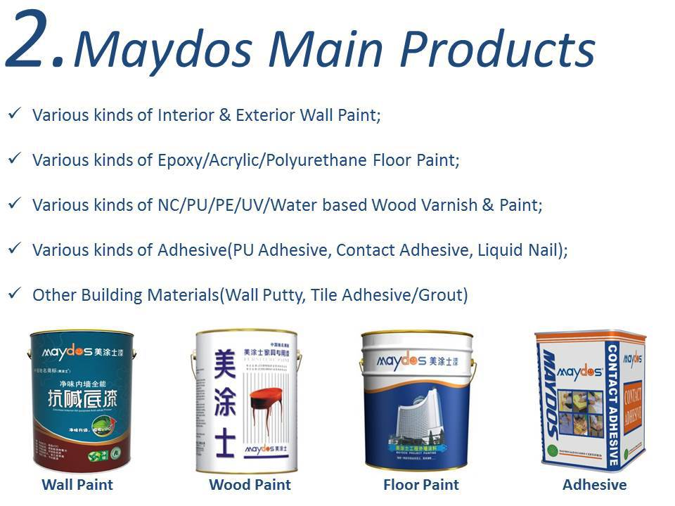 Maydos 2K Non-Solvent Diamond Hardness Dust Proof Epoxy Resin Car Parking Floor Paint