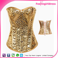 Fashion Hook Steel Boned Gold Sample Free Cheap Bling Bling Corset