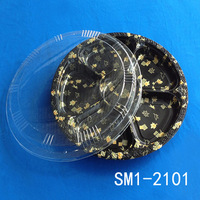 SM1-2101A Disposable PS plastic take away japanese sushi box / japanese sushi tray/ food tray box