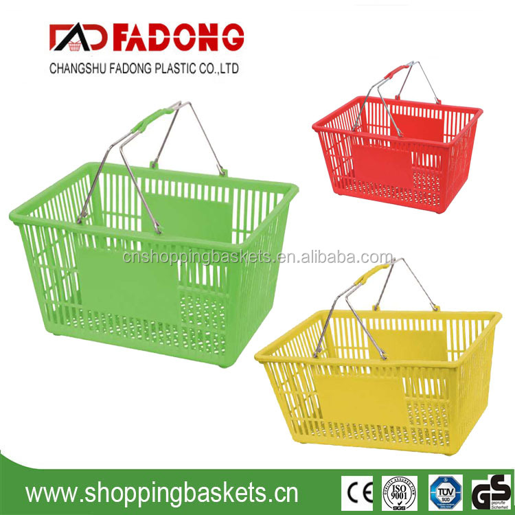 Stackable shopping baskets for retail stores , hand held shopping baskets