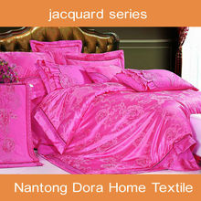Imitated silk elegant jacquard bed linens