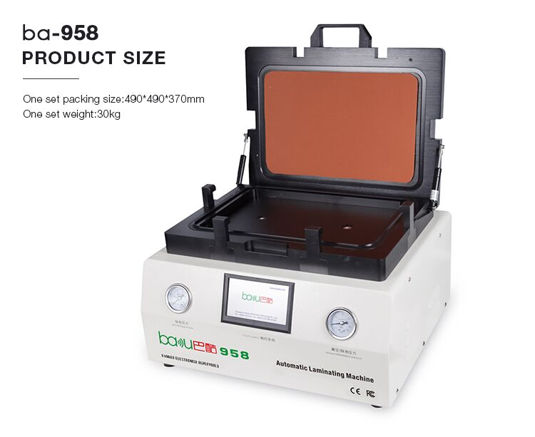 BAKU New Product BK-958 OCA Vacuum Bonding Lamination Machine For Iphone Samsung LCD Refurbish