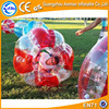 Half red high quality inflatable bumper ball, 2015 best sale plastic bubble ball/inflatable bouncing ball