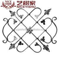 philippines ornamental decorative latest wrought iron fence components for used iron garden gate fence