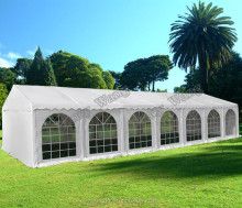 high quality 6 x 12 m white PVC wedding party tents, event tents, gazebo, carports with sidewalls