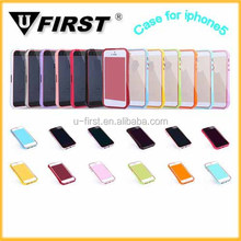 Plastic bumper case for iphone 5 ,soft mobile phone case for huawei y320