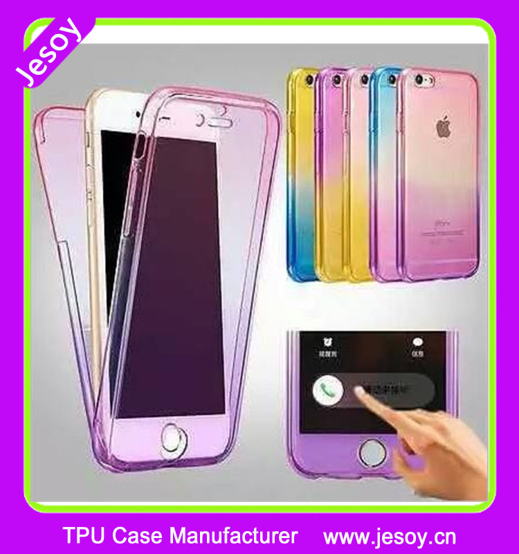 JESOY Beautiful Mobile Phone Full Cover 360 Color Changing TPU Cell Phone Case for iPhone 6 7