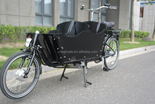 Two wheel electric cargo bike/bakfiets front loading cargo for kids