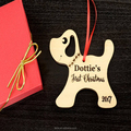 Baby's first christmas gift wood nature color christmas ornament